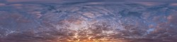 sky panorama with clouds without ground, for easy use in 3D graphics and panorama for composits in aerial and ground spherical panoramas as a sky dome