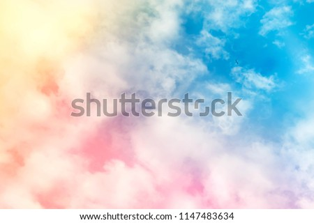 sky pink and blue colors.sky abstract background.Sunny sky abstract background, beautiful cloud , on the heaven, view over white fluffy clouds, freedom concept.colorful clouds dreamy sky