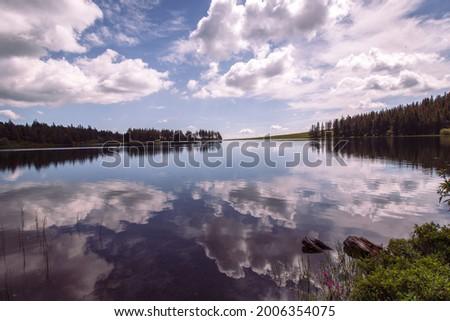Sky reflet on the lake Foto stock ©