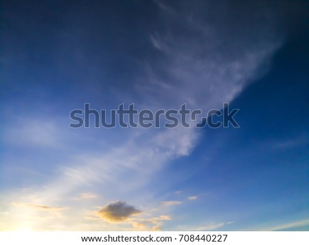 sky scape and cloud scape are plenty of copy space. gold light of sunshine is beginning day. #708440227