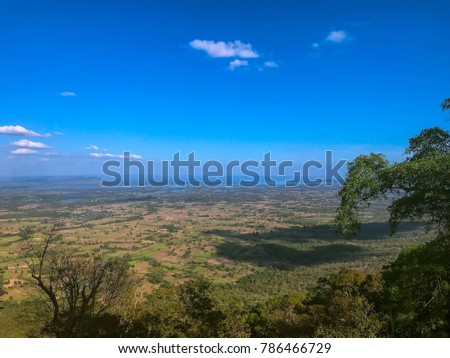 sky scape , land scape view from the top of the mountain #786466729