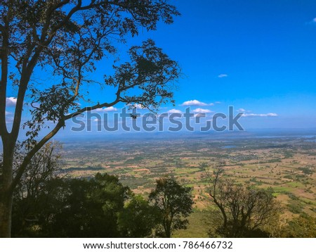 sky scape , land scape view from the top of the mountain #786466732