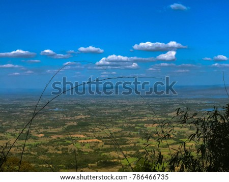 sky scape , land scape view from the top of the mountain #786466735