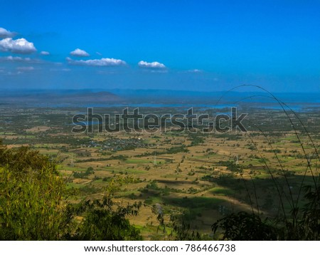 sky scape , land scape view from the top of the mountain #786466738