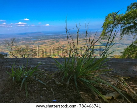 sky scape , land scape view from the top of the mountain #786466741