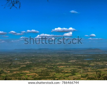 sky scape , land scape view from the top of the mountain #786466744