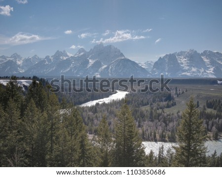 Sky-scapes and mountain-scapes in winter #1103850686