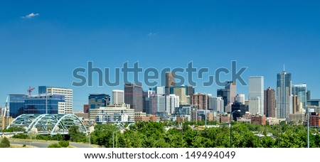 Sky scrapers of the Denver skyline