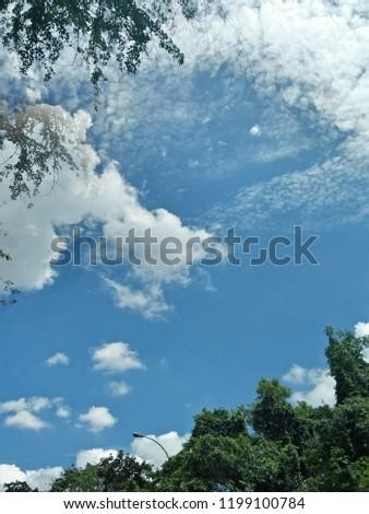 Sky sky sky. A sunny day with blue sky.
