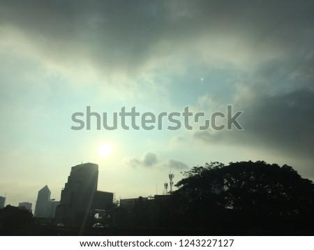 Sky sunrise sunset #1243227127
