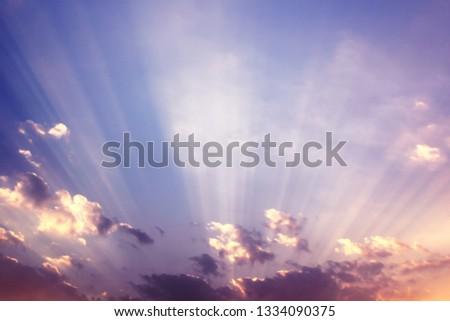 Sky sunset beautiful nature #1334090375