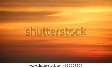 sky. sunset. cloud