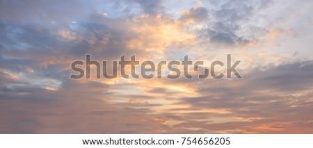 Sky sunset or sunrise background. #754656205