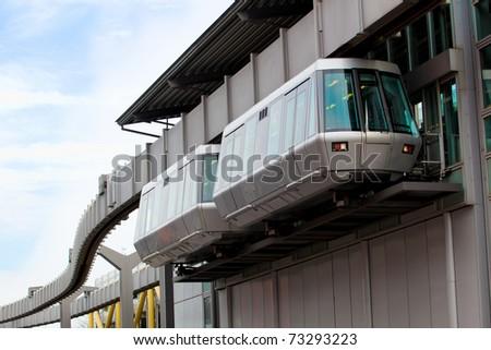 sky train in airport