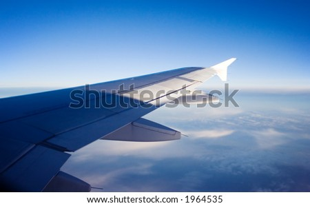 sky view from aircraft window