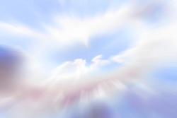 Sky vision spiritual journey to the cloud heaven perception