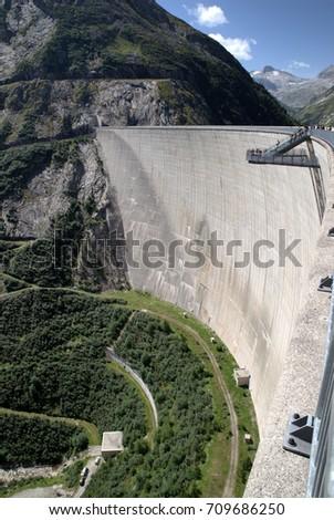 Sky walk on Water Reservoir of Kolnbrein Dam, Carinthia, Austria Stock photo ©
