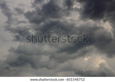Sky weather to rain. #601548752
