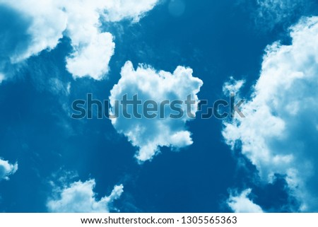 Sky with beautiful cloud and sunshine. Peaceful cloudy sky natural background. Divine shining heavenly background, heaven. Sunny day, light #1305565363