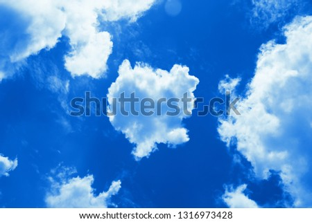 Sky with beautiful cloud and sunshine. Peaceful cloudy sky natural background. Sunny day, light. Divine shining heavenly background, heaven #1316973428