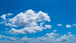 Sky with blue and white cloud beautiful nature background