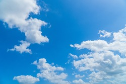Sky with Blue Background and white cloud fluffy on day light