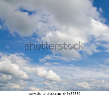 Sky with clouds #649653580