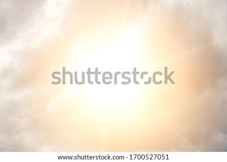 Sky with clouds and bright sun Stock foto ©