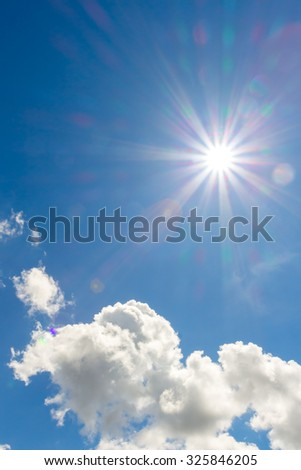 sky with clouds and sun. #325846205