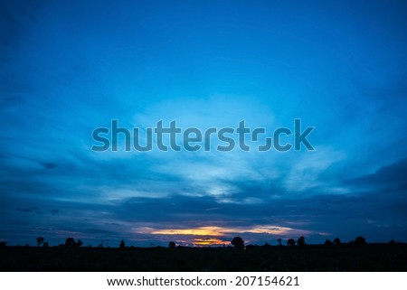 sky with clouds in the evening  #207154621