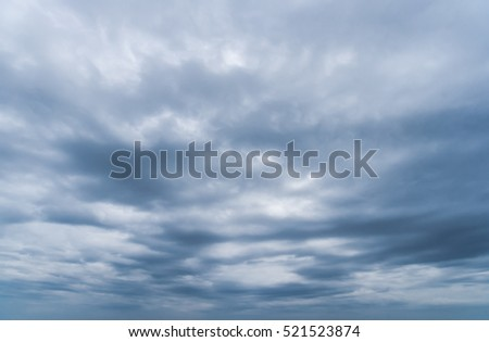 Sky with rain cloud in nature background