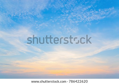Sky with vertically vertical clouds for a mobile backdrop #786422620