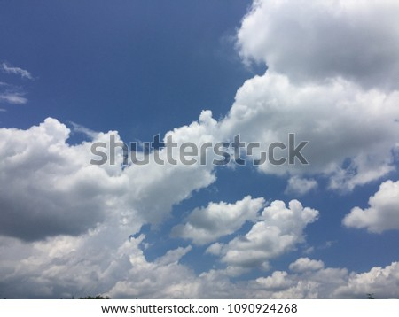 Sky with white cloud #1090924268
