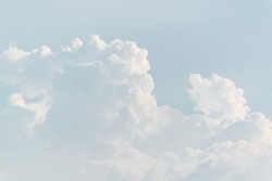 sky with white cloud background