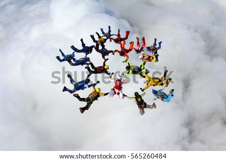 skydive formation is flying...
