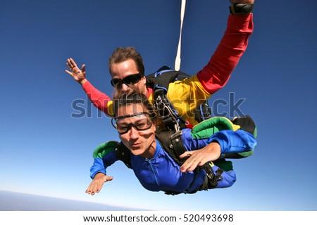 skydive tandem happy