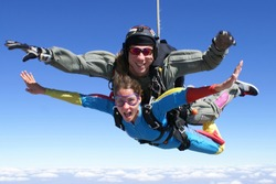 Skydive tandem pretty woman