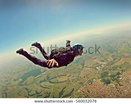 skydiver freedom concept...