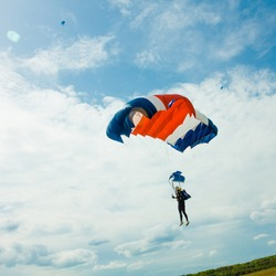 skydiver in the air