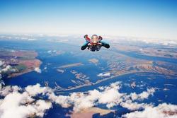 Skydiver. Parachuting is fun!