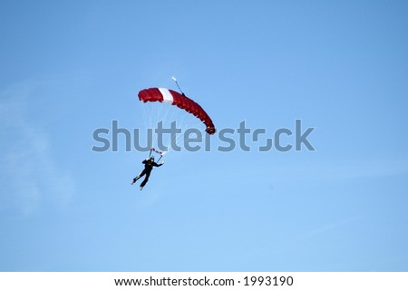 Skydivers participating in an international