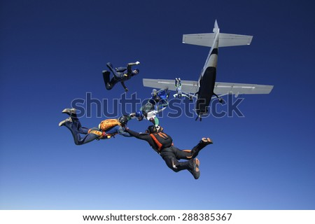 Photo of Skydiving formation exit