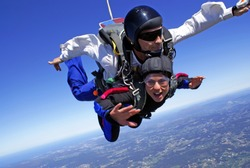 Skydiving tandem exhilaration