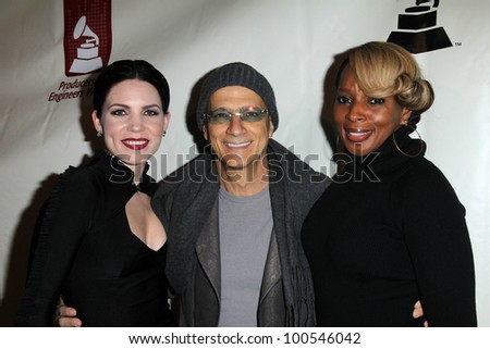 Skylar Grey, Jimmy Iovine, Mary J. Blige at the Producers & Engineers Wing Of The Recording Academy's 5th Annual GRAMMY Event, Village Recording Studios, Los Angeles, CA 02-08-12