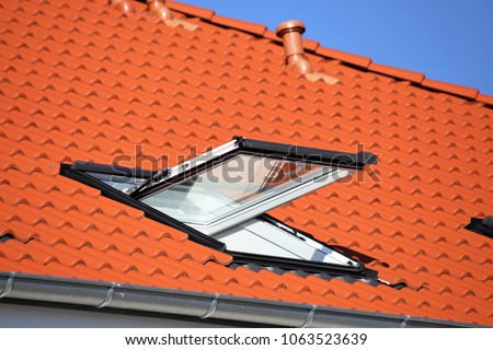 Skylight on a residential home, exterior shot\n