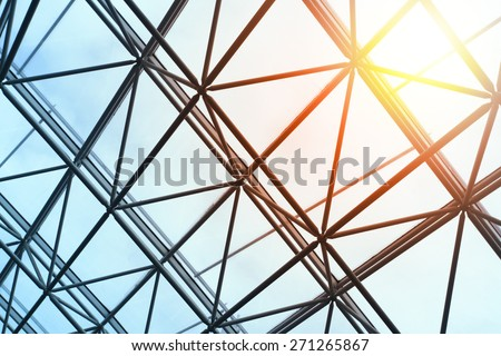 Skylight window - abstract architectural background #271265867