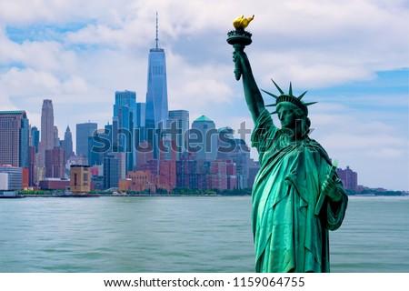 skyline cityscape, Landmarks of New York City, USA