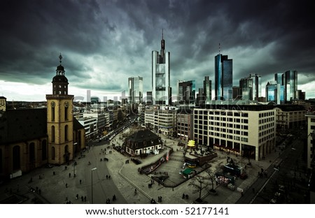 Skyline downtown of Frankfurt