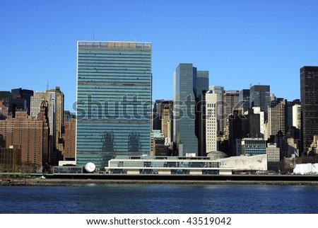 Skyline for Mid-town Manhattan in New York City