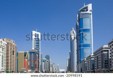 Skyline from Dubai - stock photo